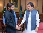 Shahid Afridi calls on PM Imran Khan