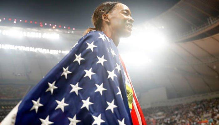 Dalilah Muhammad bags gold and world record in 400m hurdles