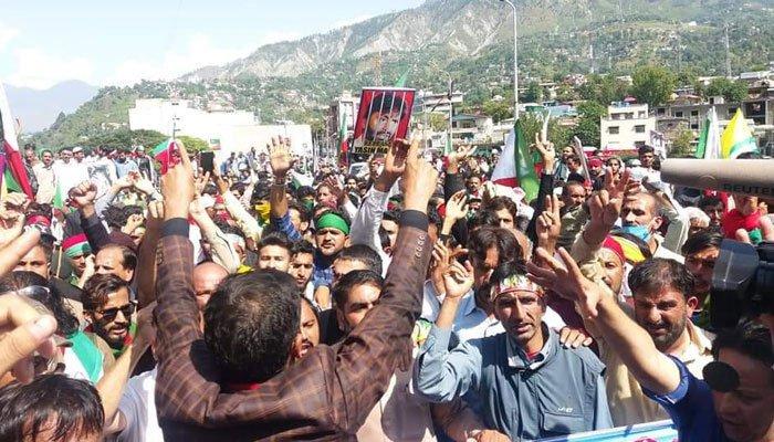 JKLF marchers head towards Line of Control